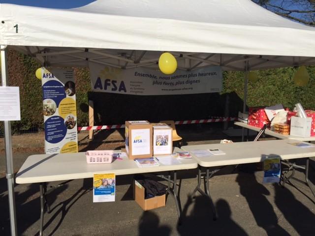 Retour Marches et course solidaires Montigny  AFSA ~ Carrefour Market Bois Guillaume